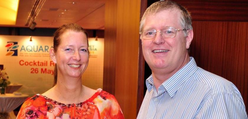 Alex Ploeg y su esposa Edith.