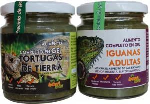 gel iguanas y tortugas