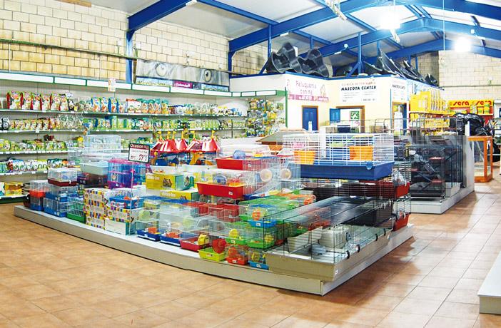 El interior de la tienda.