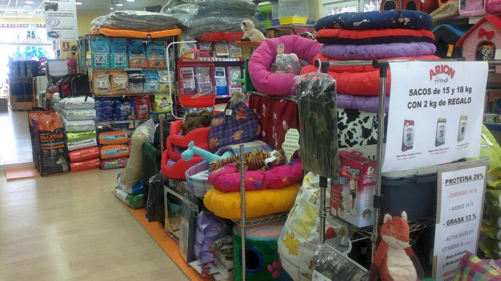 Zona central de la tienda, donde se colocan las promociones.