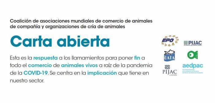 Carta abierta de las asociaciones mundiales de comercio de animales de compañía